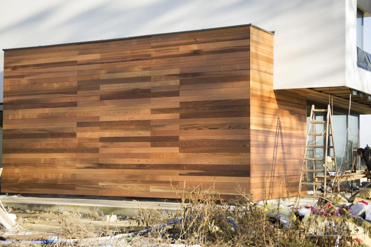 Фасад з дерева Кедр червоний канадський